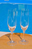 Two clean glasses Royalty Free Stock Photos