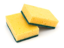 Two cleaning sponges Royalty Free Stock Photos