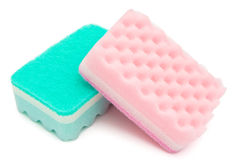 Two cleaning sponges. With clipping path Stock Photography