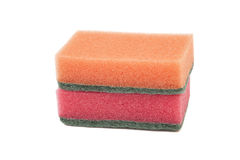 Two cleaning sponges Royalty Free Stock Photography