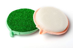 Two cleaning sponges Royalty Free Stock Photo