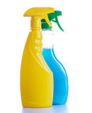 Two cleaning spray bottles Royalty Free Stock Photo