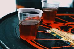 Two Clear Plastic Cups Stock Photos