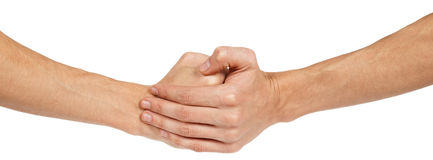 Two clenched male hands Royalty Free Stock Image