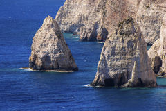 Two cliffs in the Mediterranean sea Stock Images