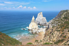 Two cliffs, similar in shape to a portion of ice cream Royalty Free Stock Image