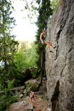 Two climbers stock images