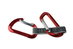 Two Climbing Carabiners Stock Photo