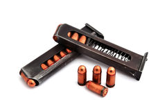 Two clips of ammunition Stock Photo