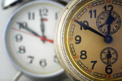 Two clocks. Stock Photography