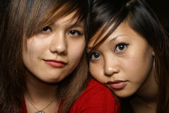 Two close female friends Royalty Free Stock Images