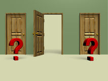 Two closed doors Royalty Free Stock Photo