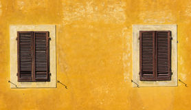 Two closed windows Stock Image