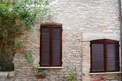 Two closed windows Royalty Free Stock Images