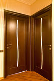 Two closed wooden doors Royalty Free Stock Photos