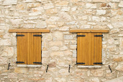 Two closed wooden windows Royalty Free Stock Images