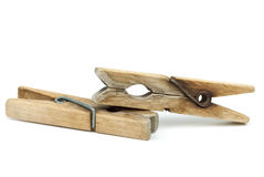 Two clothespins Royalty Free Stock Photography