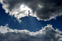 Two clouds. Two storm clouds on the sky Royalty Free Stock Image