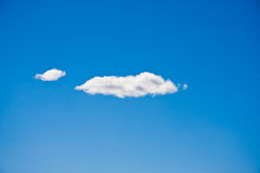Two Clouds Stock Photo