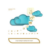 Two clouds Stock Images