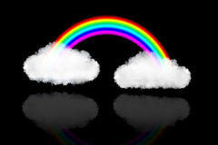 Two clouds with rainbow Royalty Free Stock Images