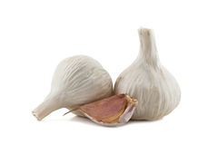 Two cloves of garlic and garlic clove Royalty Free Stock Image