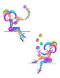 Two clowns Stock Photos