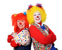 Two Clowns Smiling Stock Photos