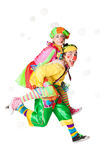 Two clowns  in the soap bubbles Royalty Free Stock Photos
