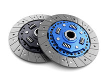 Two clutch disc car Stock Images