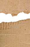 Two coarse piece of cardboard Royalty Free Stock Photography