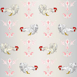 Two cock. Wallpaper. Use printed materials, signs, items, websites, maps, posters, postcards, packaging. Royalty Free Stock Photos