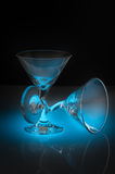 Two cocktail glasses Stock Images