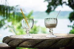 Two cocktail glasses Royalty Free Stock Photography