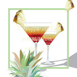 Two Cocktail Glasses Vector vector illustration