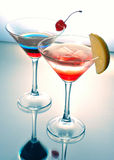 Two cocktail martini Stock Image