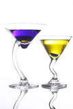 Two cocktails. Luxurious cocktails Royalty Free Stock Photo