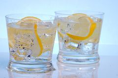 Two cocktails Stock Image