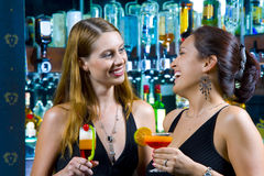 Two cocktails Stock Images