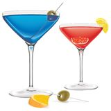 Two cocktails Royalty Free Stock Photo