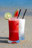 Two Cocktails on the Beach Royalty Free Stock Photography
