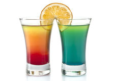 Two cocktails. Two refreshing alcoholic and non-alcoholic cocktails Stock Photography