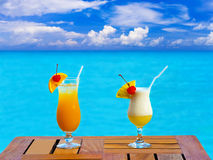 Two cocktails on table Stock Image