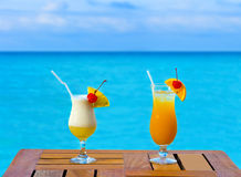 Two cocktails on table Stock Images