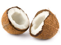 Two coconut half Royalty Free Stock Image
