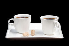 Two coffee Royalty Free Stock Photos