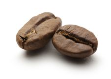 Two coffee beans Royalty Free Stock Photos