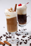 Two Coffee Cocktail - Coffee Warmers Stock Photo
