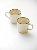 two coffee cup on white background Royalty Free Stock Photos