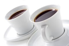 Two coffee cups Royalty Free Stock Image